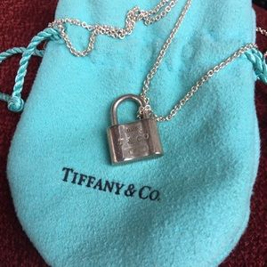Authentic Tiffany & Co. Padlock Necklace